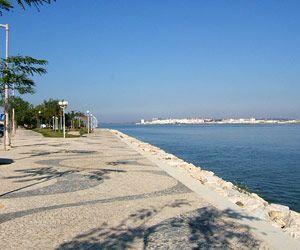 Looking across to Spain from Vila Real de Santo António in east Algarve!