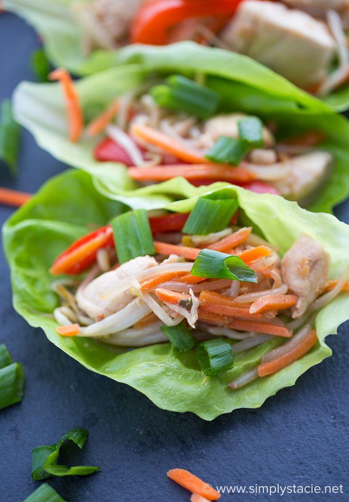 Asian Chicken Lettuce Wraps #ChickenDotCA