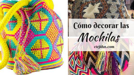 Tutorial #145: Cómo Decorar con Piedras las Mochilas Wayúu   CTejidas [Crochet y Dos Agujas]