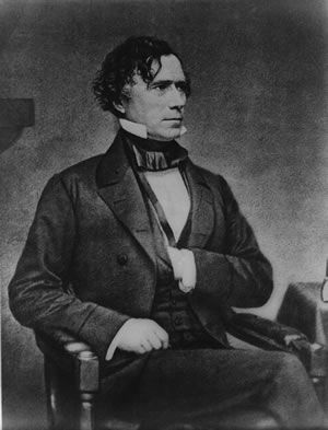 Franklin Pierce, Fourteenth President of the United States  Born 1804 - Died 1869  Served 1853 - 1857