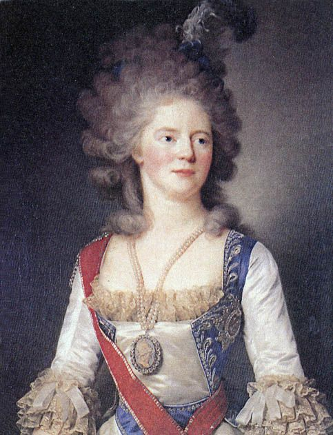 1792 Maria Feodorovna by Jean-Louis Voille