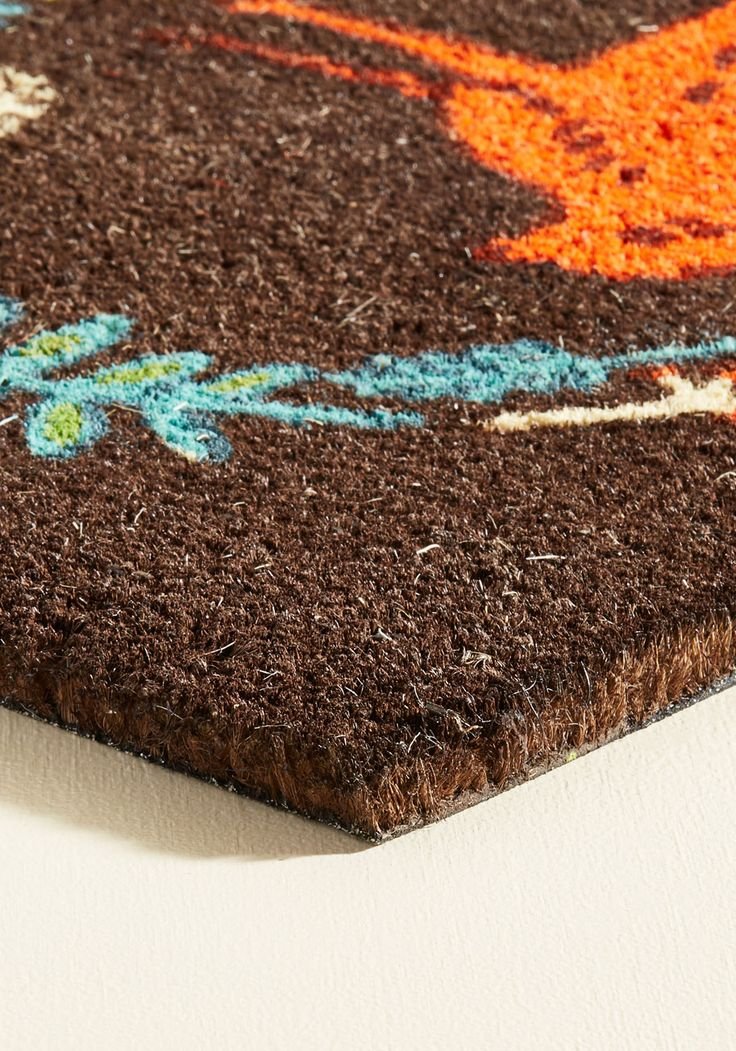 A Woodland Welcome Doormat. Guests to your dwelling are first greeted by this brown coir doormat and next by your smiling face! #multi #modcloth