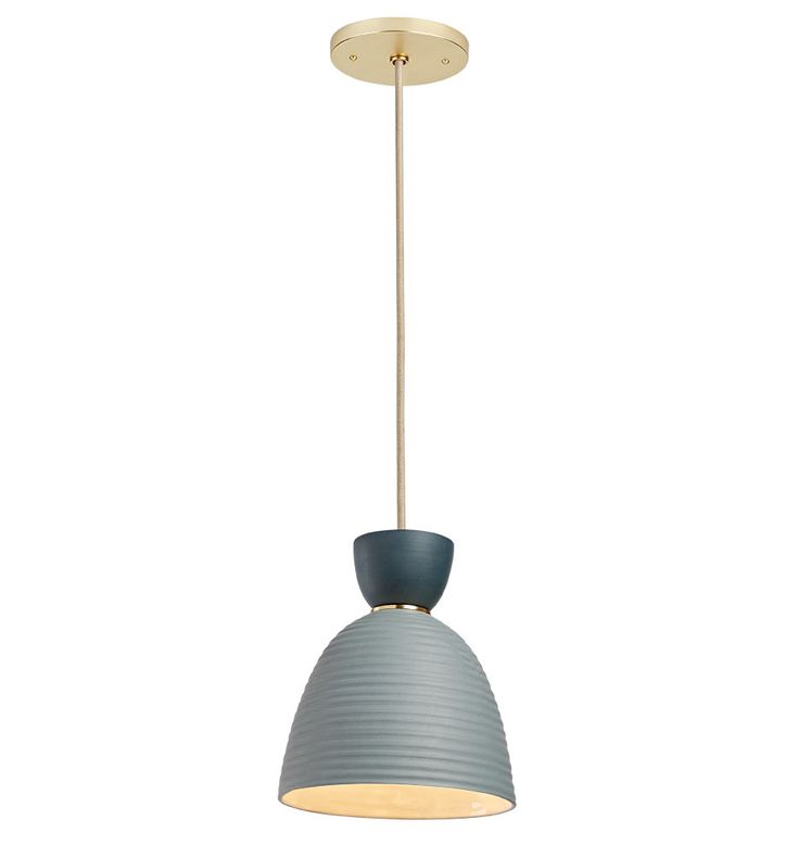 Hazel Small Banded Cone Pendant Available in 4 Mix and Match