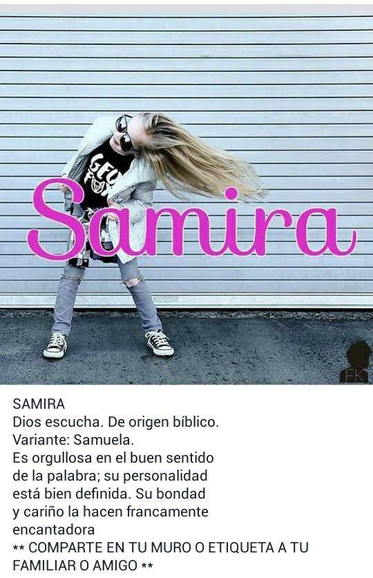 Nombres de niñas, significado del nombre Samira