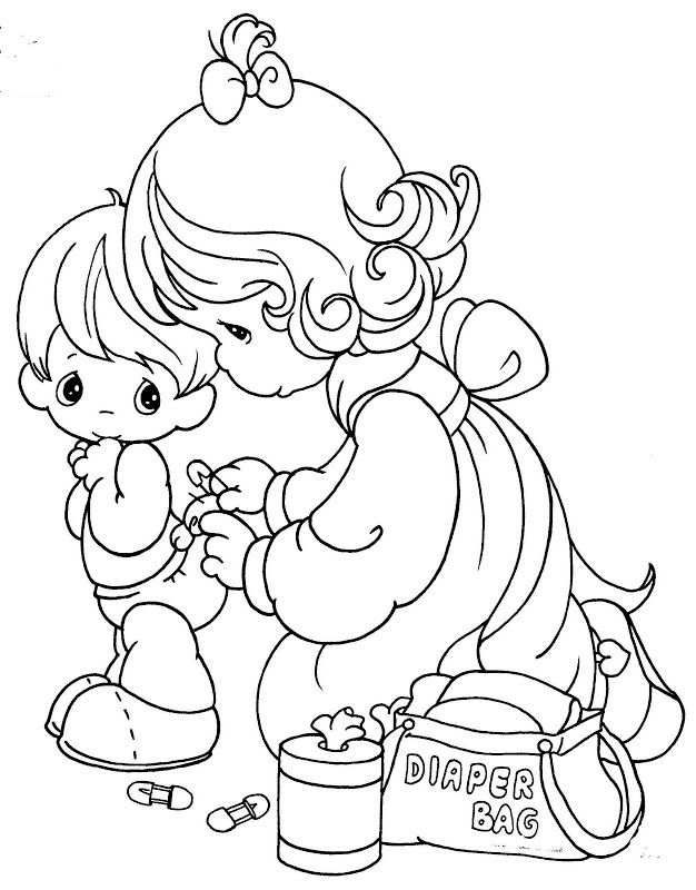changing a diaper free coloring pages precious moments coloring pages