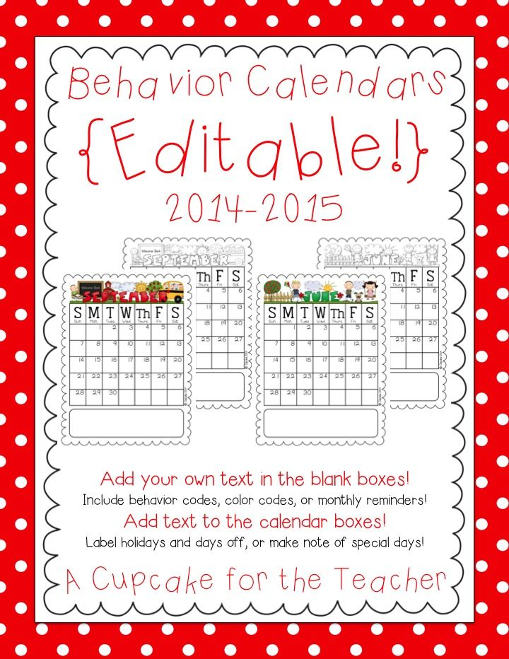 25+ best ideas about Behavior calendar on Pinterest | 2015 and ...