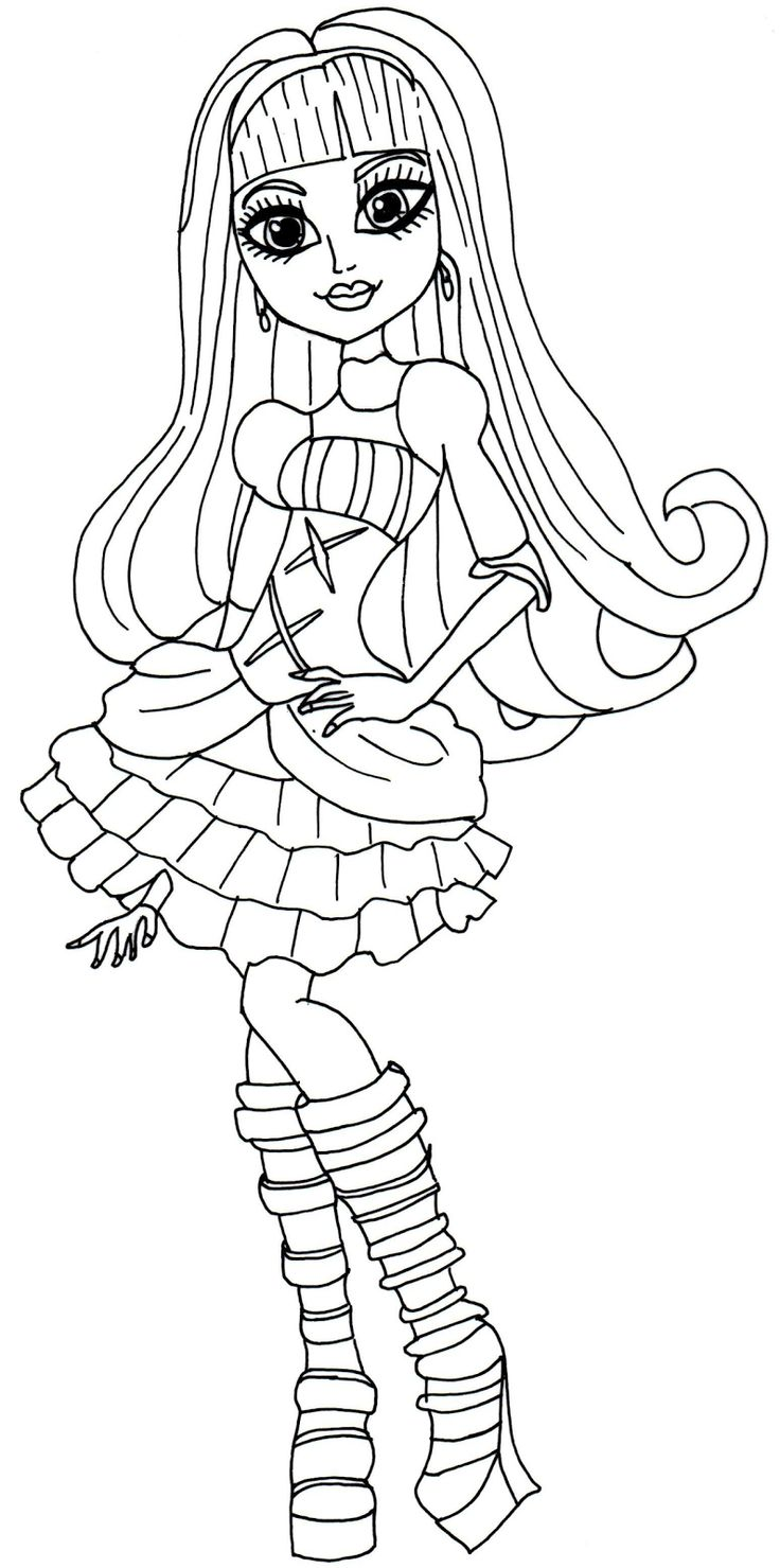 monster high bratz coloring pages-#19