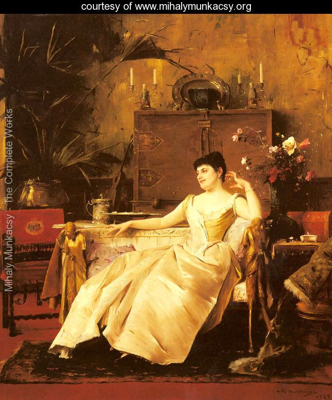 A Portrait of the Princess Soutzo - Mihaly Munkacsy - www.mihalymunkacsy.org