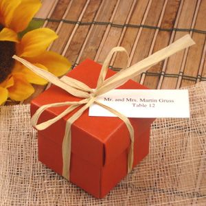 Fall Wedding Favors Table Assignment