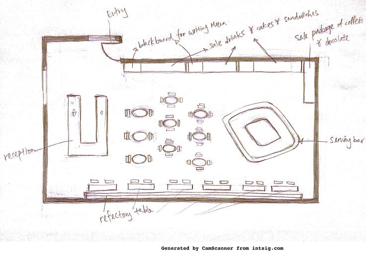 Cafe shop floorplan