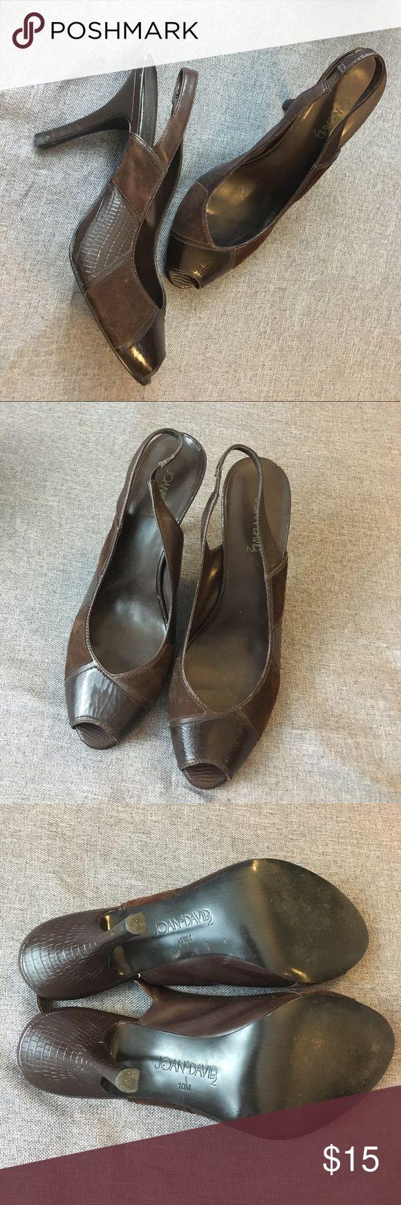 Vintage Joan & David Brown Sling Back Heels Vintage Joan & David Brown Sling Back Heels. Joan & David Shoes Heels