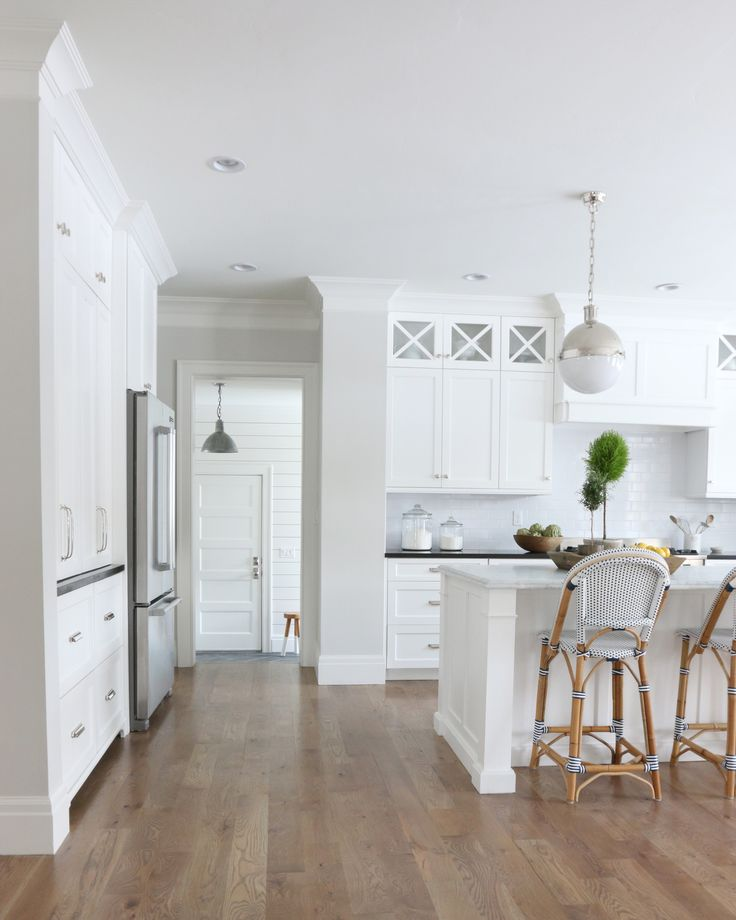 The Midway House Kitchen Pick A Paint Color Pinterest - Light grey kitchen cabinets what colour walls
