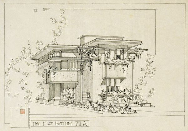 American Systems Built Housing, Milwaukee, WI by Frank Lloyd Wright from Avery Architectural & Fine Arts Library | Columbia University Libraries