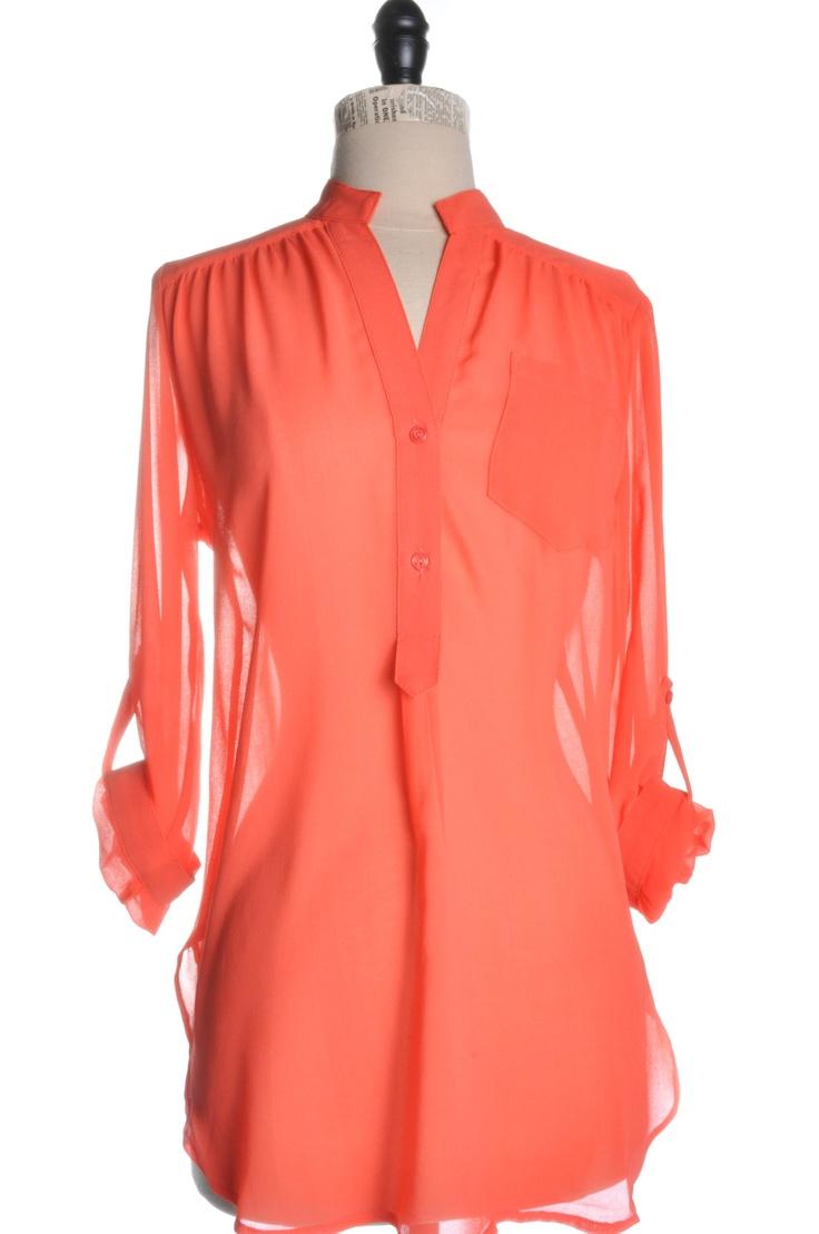 .Pocket Sheer, Tops Coral, Perfect Style, Walks In Closets, Sheer Tops, Spring Fashion, Nude Heels, Girly Swag, Dreams Closets Styl