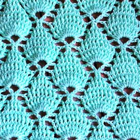 Point feuille en relief tuto crochet facile