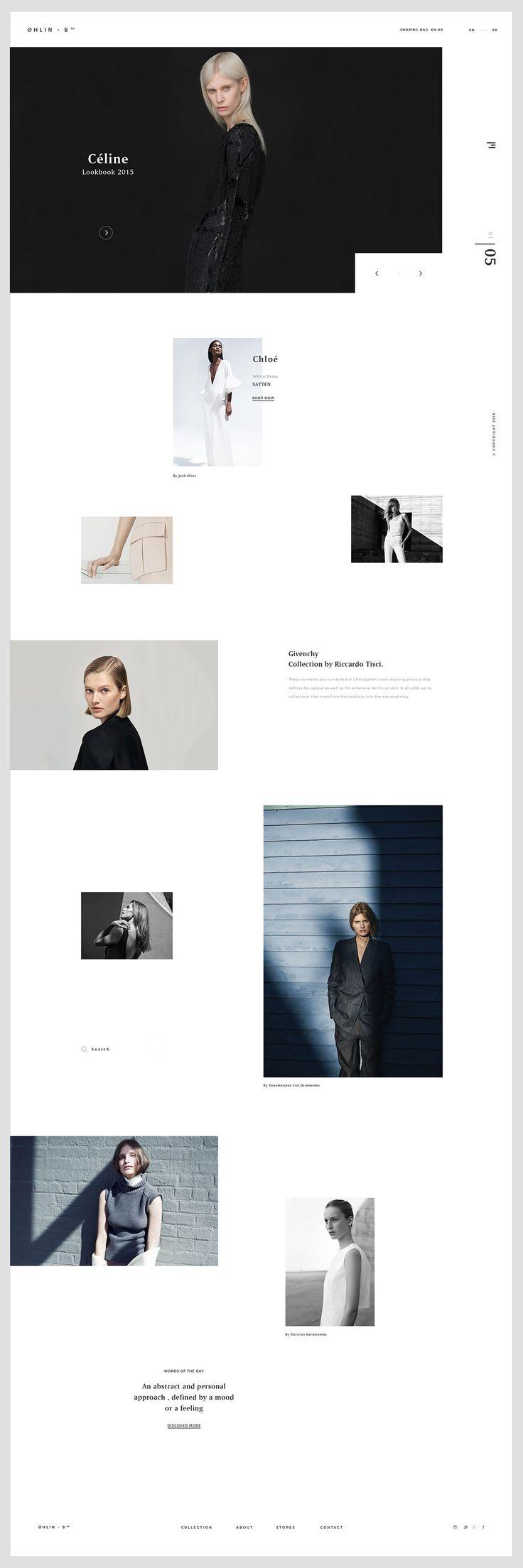 ØHLIN – B Concept minimal fashion website