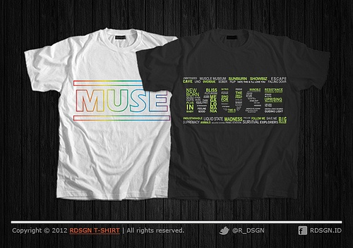 Desain Kaos Band Muse