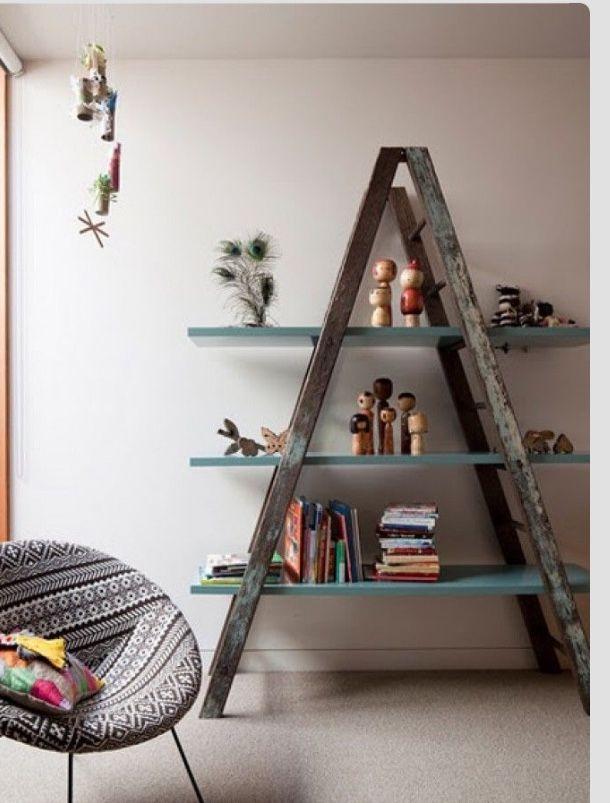 Die besten 25+ Old ladder shelf Ideen auf Pinterest Leitern - blumenstander selber bauen alte holzleiter