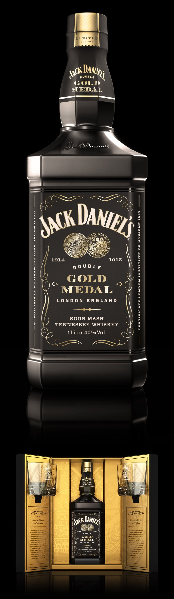Jack daniel s double gold medal limited edition