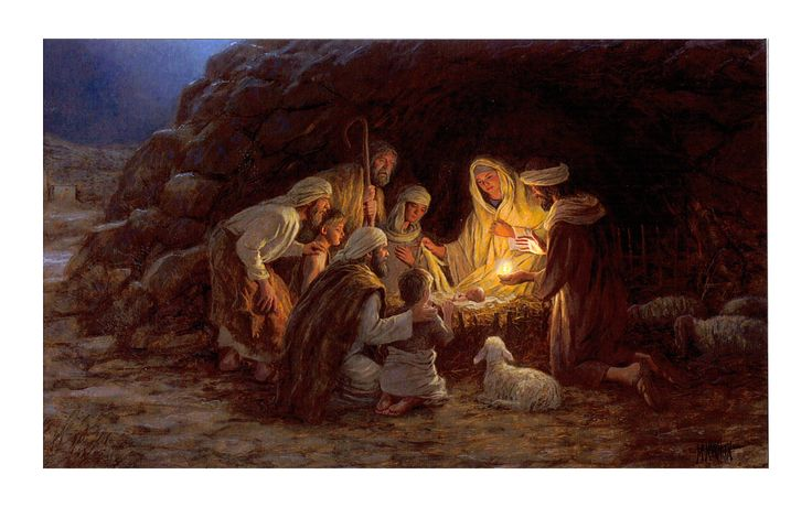 Julekortsmotivet har titlen Nativity (Jesu fødsel). Kunstneren, der har skabt motivet, hedder Jon McNaughton.