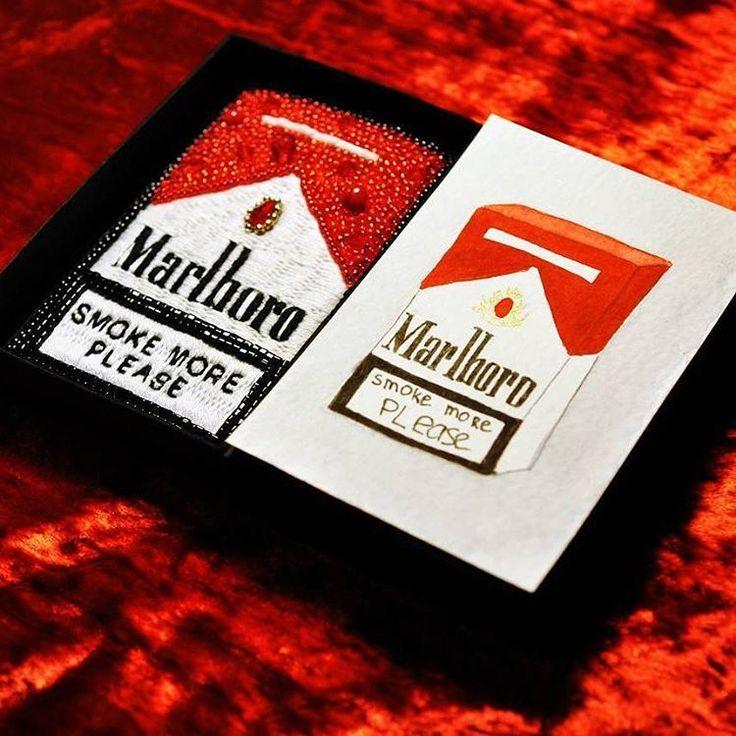Marlboro brooch was sold, but I still remember and love it. I think there will be a few new embroidered drink&smoke packages soon. Мальборо была продана давно, но она до сих пор занимает далеко не последнее место в пантеоне моих украшений Подозреваю, будет еще не одна вышитая упаковка вредных вещей. #byalexandrared #embroidery #handembroidery #eccentric #handmade #marlboro #cigarette #smoke #drinkandsmoke #red #package #modernembroidery #contemporaryart #contemporaryembroidery #textileart…