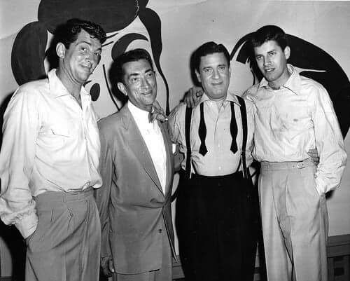 Dean Martin and Jerry Lewis with their Dads.