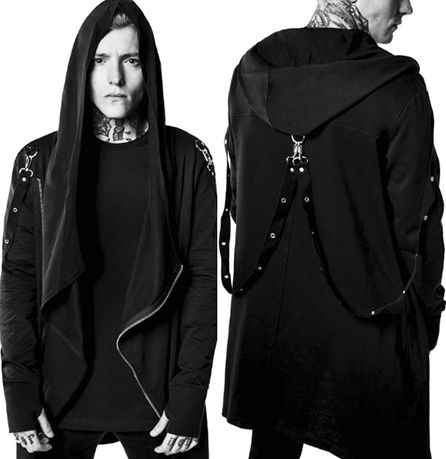 Spellbound boys! Meet your next everyday jacket! Killstar's Rage Riot Firestarter hoodie! It has thumbholes, bondage straps and asymmetric styling. Get yours' now at www.ipso-facto.com or our Fullerton CA store where occult luxury bares it's teeth.