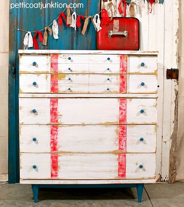 nautical theme chest by Petticoat Junktion #nautical