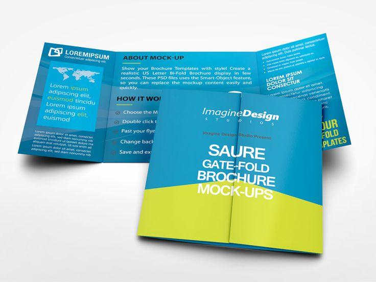 Square Gate Fold Brochure Mockup By Idesignstudio Dribbble Booklet Design Brochure Trifold Brochure Template