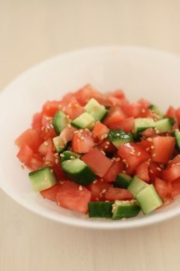 きゅうとトマトのコロコロサラダ by 藤本佳子 | レシピサイト「Nadia ...