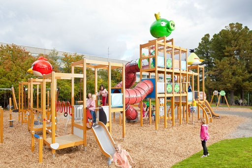 Angry Birds Playground is one on many free parks in Rovaniemi. It is situated at Konttinen Park, near centrum.