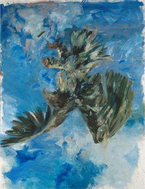 Georg Baselitz (*1938), Fingermalerei Adler, 1972. Oil on canvas, 249,5 x 180,3 cm