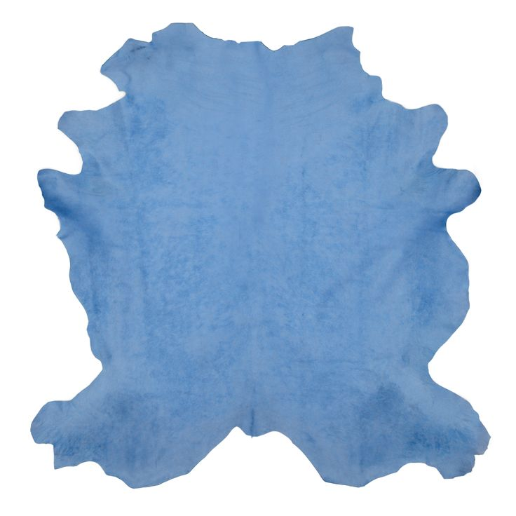 Buy Celeste Blue Cow Hide Rug by KLASP home - Made-to-Order designer Rugs from Dering Hall's collection of Contemporary Solid Hide.