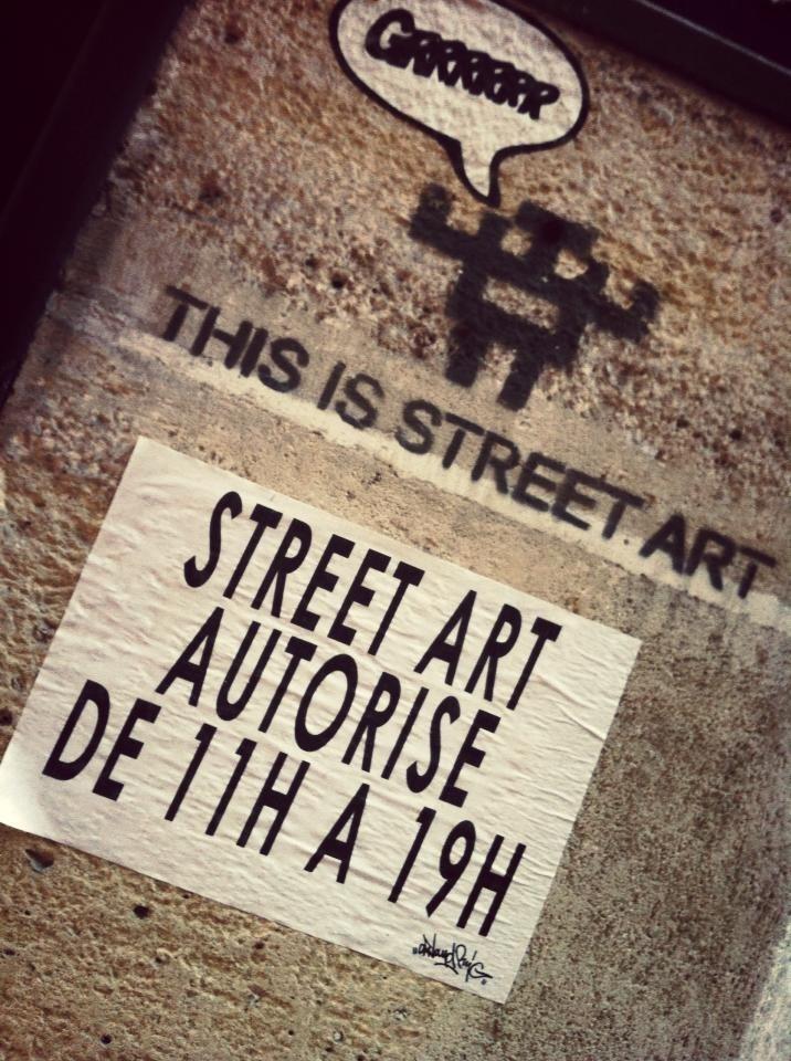 Street-art Paris, France - 2012 nov 25 - photo Olivier MIGNOT