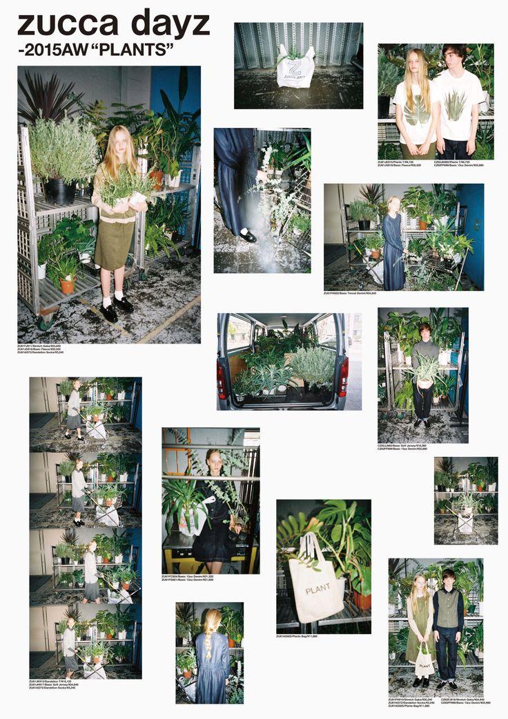 zucca dayz_PLANTS_catalog 2015 art direction & graphic design:Rikako Nagashima + Aiko Koike photo:Aiko Koike