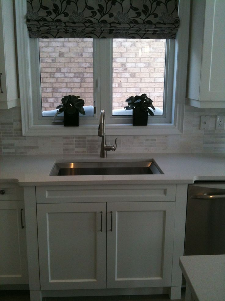 Farmhouse Sink With Divider : and accented with restoration hardware duluth pulls paired with white ...