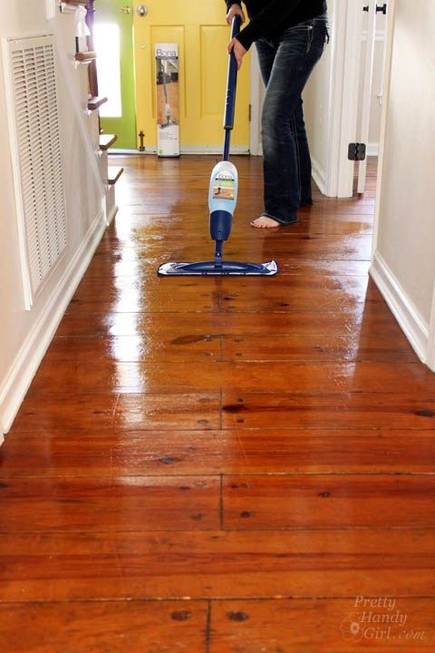 How to Refinish Wood Floors without Sanding (With images ...