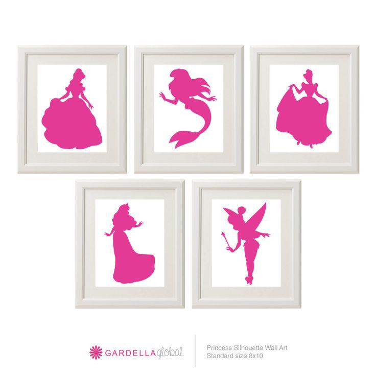 Customizable Disney Princess Silhouette Wall art by GardellaGlobal, $6.00