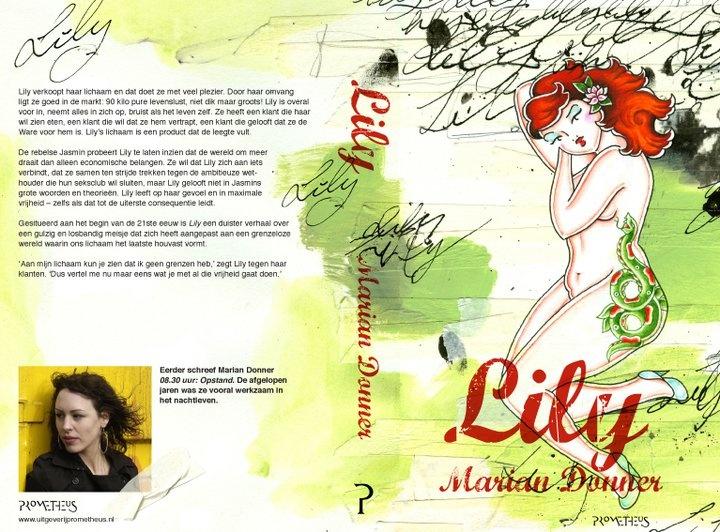 Cover illustratie & vormgeving (Tekening Pin-up: Maxine Vogt) 'Lily' * Uitgeverij Prometheus * 2011 * http://lisettedezoete.nl/illustraties/prometheus-lily