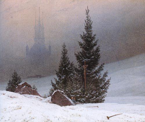 Каспар Давид Фридрих. Зимний пейзаж