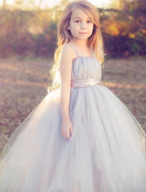 1164c71ad New baby bridesmaid flower girl dress fluffy ball gown cloth tutu ...