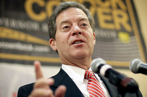 Sam Brownback may turn to socialism to save Kansas from his supply-side budget fiasco. Yellowbelly w/a Brownback. DB! #UniteBlue