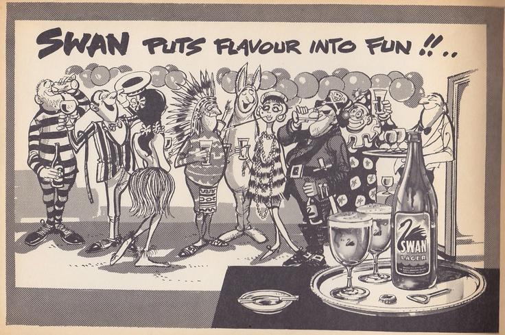 Swan Lager 1960. Paul Rigby artist