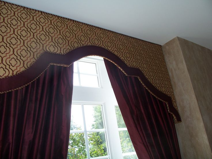 banded upholstered cornice designs - Google Search