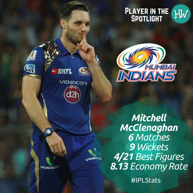 Our Player in the Spotlight for Mumbai Indians is Mitchell McClenaghan! This Kiwi speedster has been leading the #MI bowling attack from the front and is currently the holder of the coveted Purple Cap! #IPL #IPL2016 #KXIPvMI