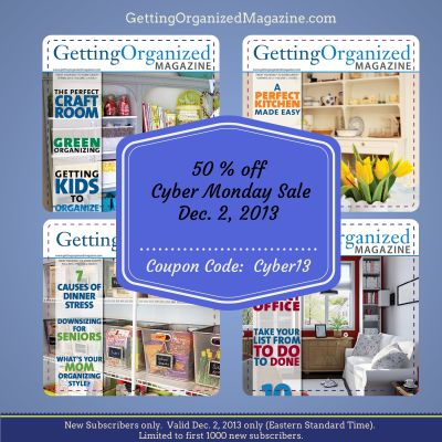 43 best getting organized magazine images on pinterest organizing organize diy 2013 cyber monday deal alert getting organized mag off for new subscriptions today only click the link for our coupon page fandeluxe Gallery