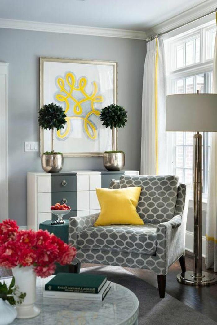 17 meilleures id es propos de gris jaune sur pinterest for Salon avec ba