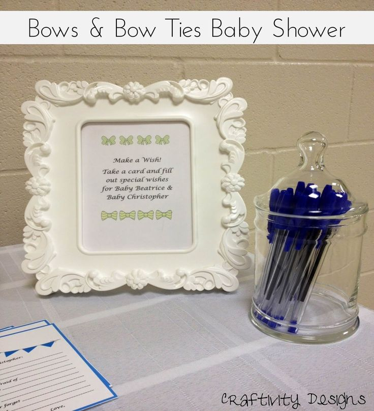 bows bow ties baby shower decorations wish cards creative party