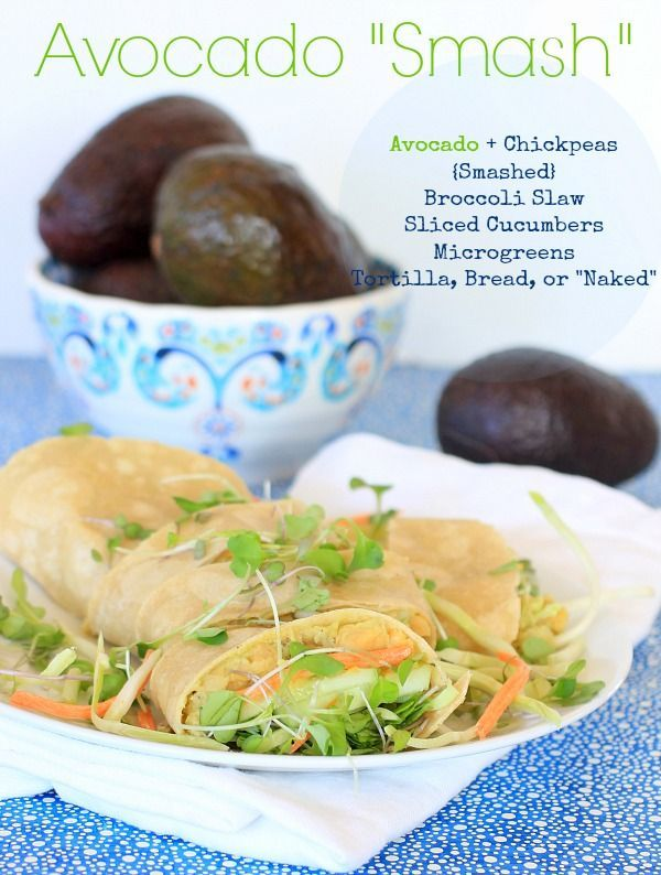 """Power your day w/ my favorite healthy & delicious Avocado Smash, wrapped or """"naked""""! {vegan, gluten-free, low carb & grain free option} #Sponsored"""