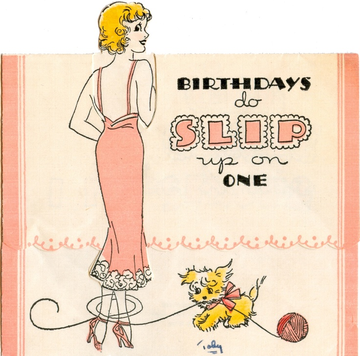 1935 -- 10 B 45: birthday card (on page 77 of The Very Best from Hallmark: Greeting Cards Through the Years by Ellen Stern)